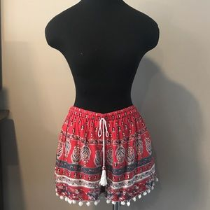 Band of Gypsies Pom-Pom Trim Shorts